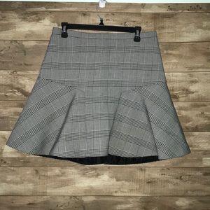 Glenplaid Flutter Skirt J. CREW